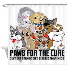 Parkinson's Disease Puppy Group Shower Curtain