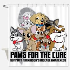 Parkinson's Disease Puppy Group Shower Curtain