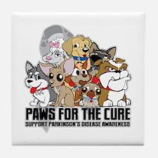 Parkinson's Disease Puppy Group Tile Coaster