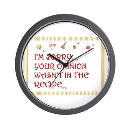 Cooking humor Wall Clock