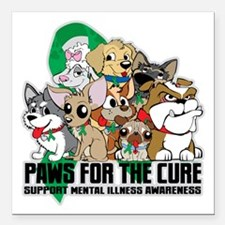 "Mental Illness Puppy Group Square Car Magnet 3"" x"