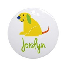 Jordyn Loves Puppies Ornament (Round)