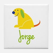 Jorge Loves Puppies Tile Coaster