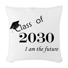 Born in 2012/Class of 2030 Woven Throw Pillow