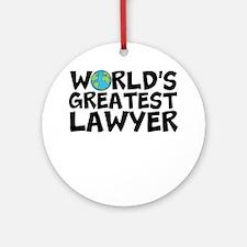 World's Greatest Lawyer Round Ornament