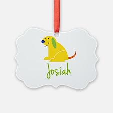 Josiah Loves Puppies Ornament