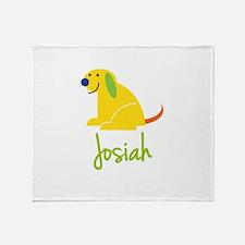 Josiah Loves Puppies Throw Blanket