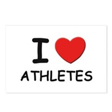 I love athletes Postcards (Package of 8)