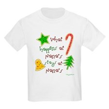 """""""Christmas at Nana's"""" Kids T-Shirt"""