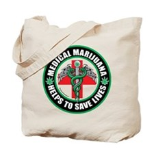 Medical Marijuana Helps Tote Bag