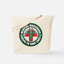 Medical Marijuana Helps Tote Bag