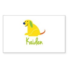 Kaiden Loves Puppies Decal