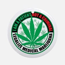 Patient-not-Criminal-2009.png Ornament (Round)