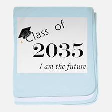Born in 2013/Class of 2035 baby blanket