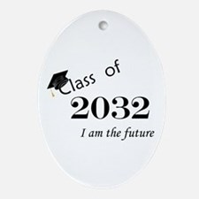 Born in 2014/Class of 2032 Ornament (Oval)