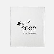 Born in 2014/Class of 2032 Throw Blanket