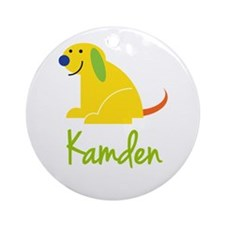 Kamden Loves Puppies Ornament (Round)