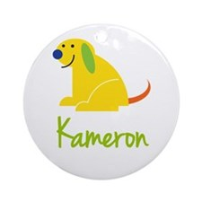 Kameron Loves Puppies Ornament (Round)