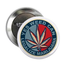 """Yes-Weed-Can-Circle.png 2.25"""" Button"""