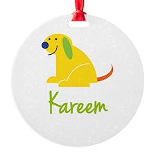 Kareem Loves Puppies Ornament