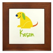 Kason Loves Puppies Framed Tile
