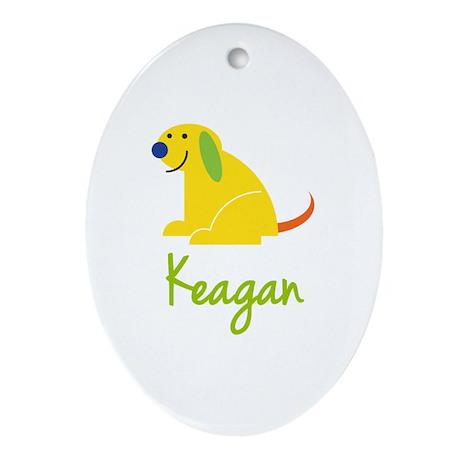 Keagan Loves Puppies Ornament (Oval)