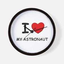 I love astronauts Wall Clock