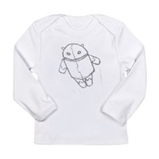 Android in flight Long Sleeve T-Shirt