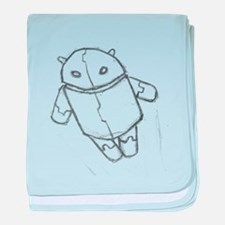 Android in flight baby blanket