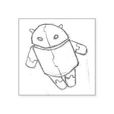Android in flight Sticker