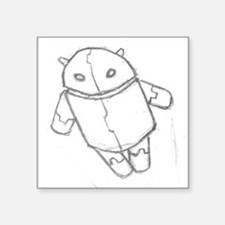 Android in flight Sticker
