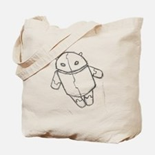 Android in flight Tote Bag