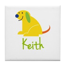 Keith Loves Puppies Tile Coaster
