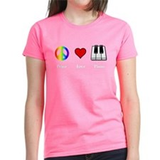 Peace Love Piano - music lovers T-Shirt