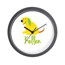 Kellen Loves Puppies Wall Clock