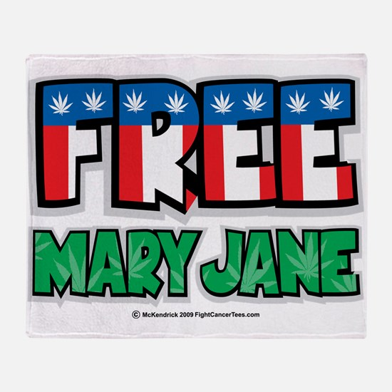 Free-Mary-Jane-2.png Throw Blanket