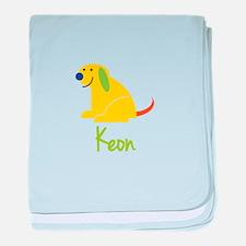 Keon Loves Puppies baby blanket