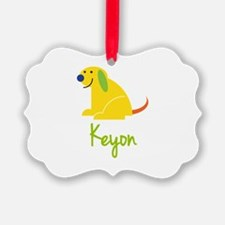 Keyon Loves Puppies Ornament