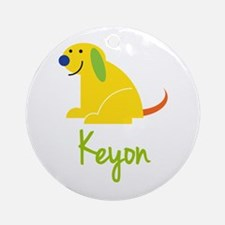 Keyon Loves Puppies Ornament (Round)