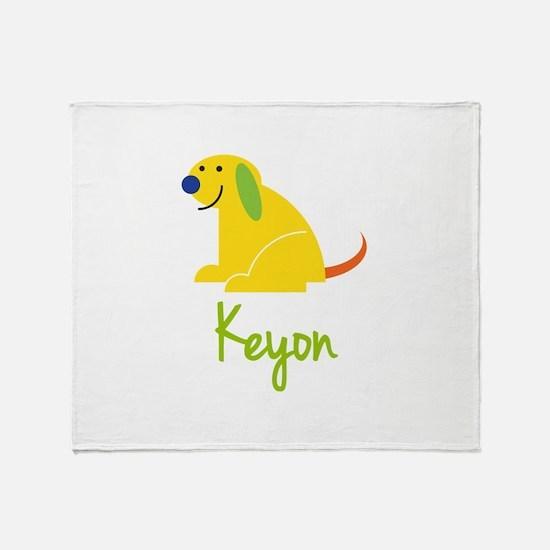 Keyon Loves Puppies Throw Blanket