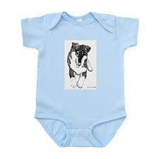 Tri Collie Pup Infant Creeper