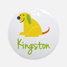 Kingston Loves Puppies Ornament (Round)