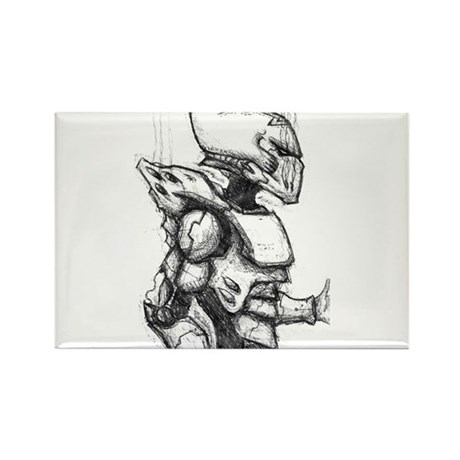 Space Elf Armour Rectangle Magnet