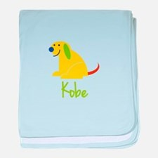 Kobe Loves Puppies baby blanket