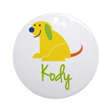 Kody Loves Puppies Ornament (Round)