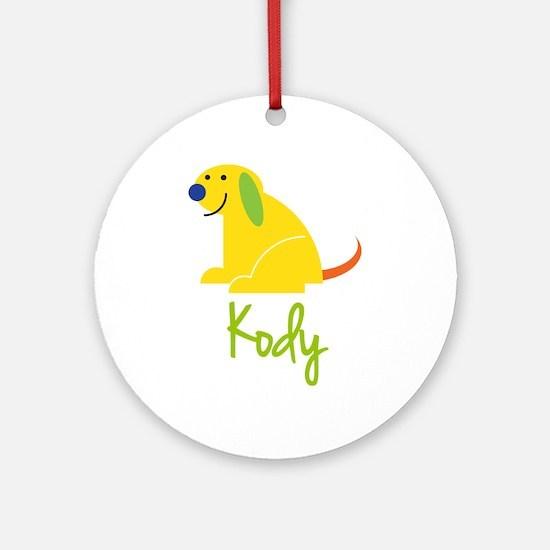 Kody Loves Puppies Ornament (Round)