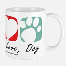 Peace-Love-Dog-2009.png Mug