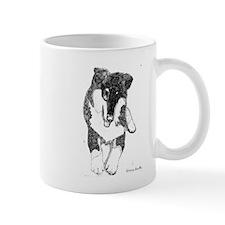 Tri Collie Pup Mug