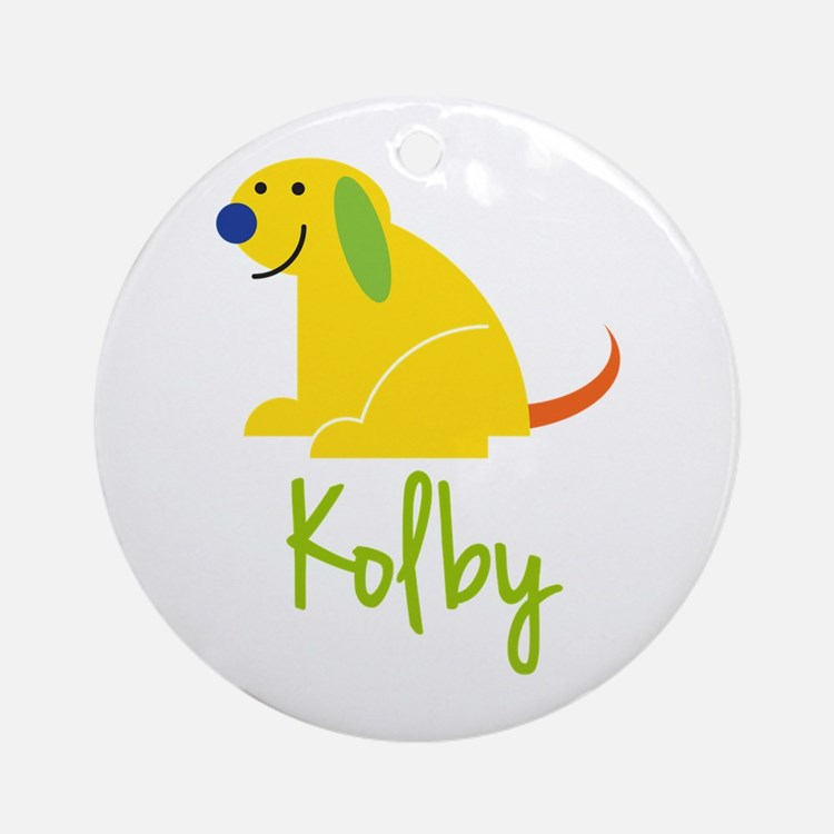 Kolby Loves Puppies Ornament (Round)