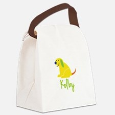 Kolby Loves Puppies Canvas Lunch Bag